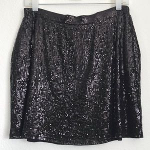 Michael Kors M Black Sequin Mini Skirt Sz M